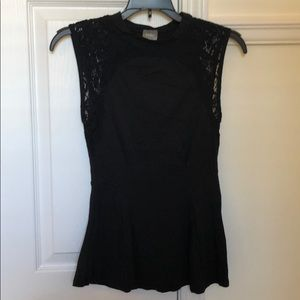 Bobi sleeveless peplum top